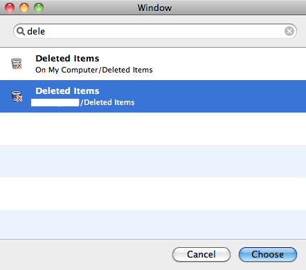 Choose Folder